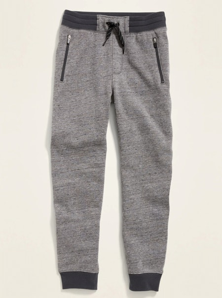 Zip-Pocket Joggers for Boys in Medium Grey