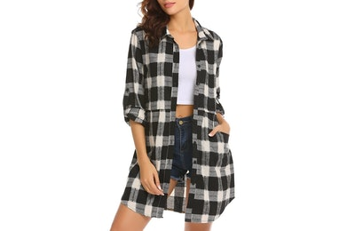 HOTOUCH Mid-Long Casual Boyfriend Flannel