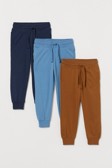 3-pack Joggers in Brown/Blue/Navy Blue