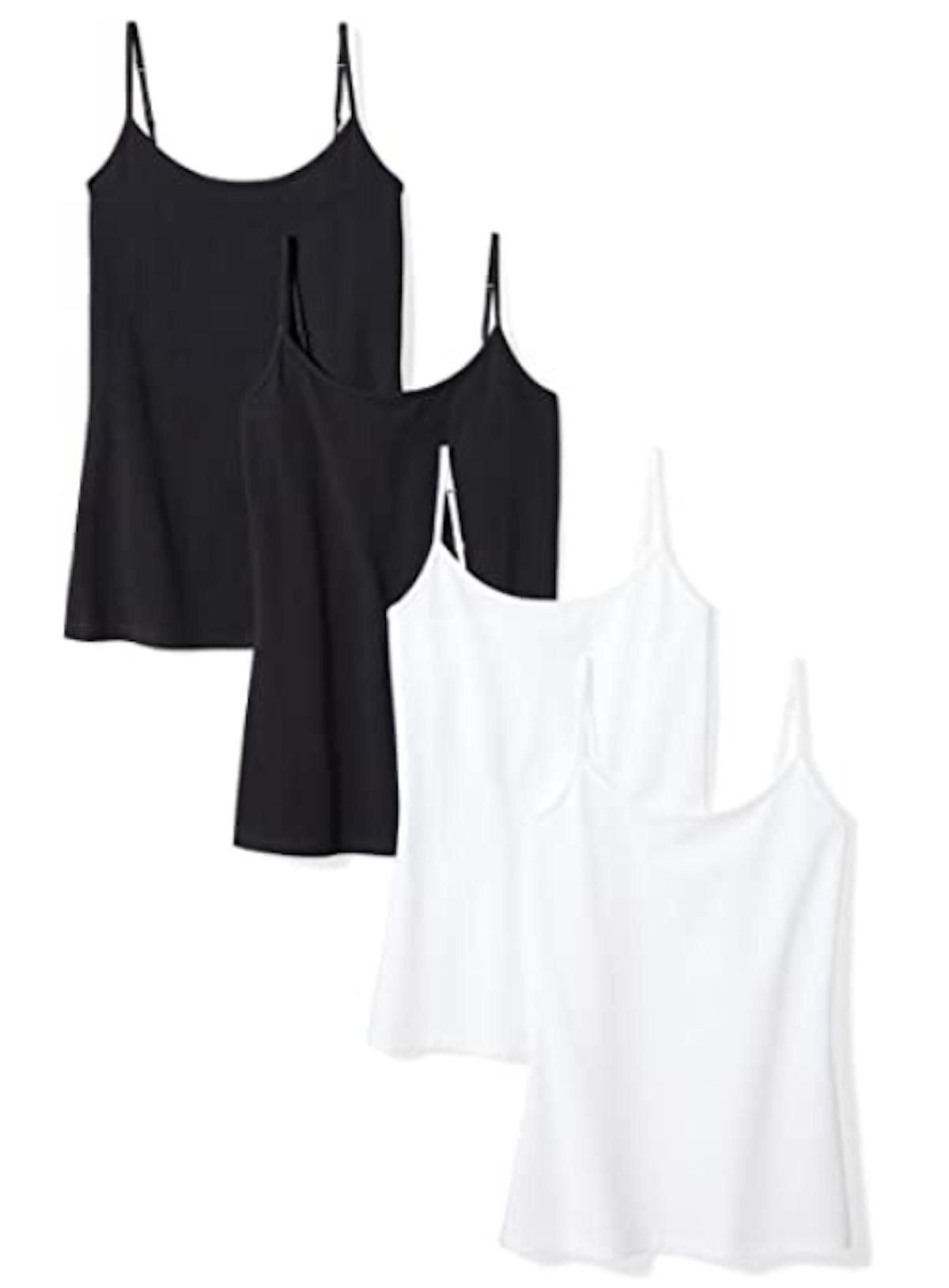 Amazon Essentials Women's 4-Pack Slim-Fit Camisole