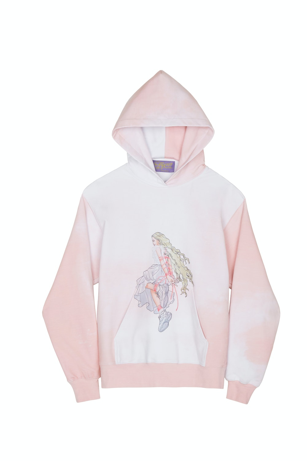 SSENSE Exclusive Pink & White Graphic Pullover Hoodie