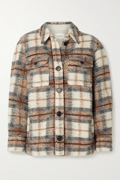 Gastoni Checked Wool-Blend Jacket