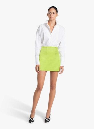 MANI high-rise satin mini skirt