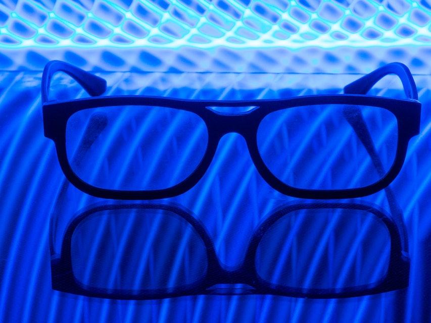 Blue light glasses.