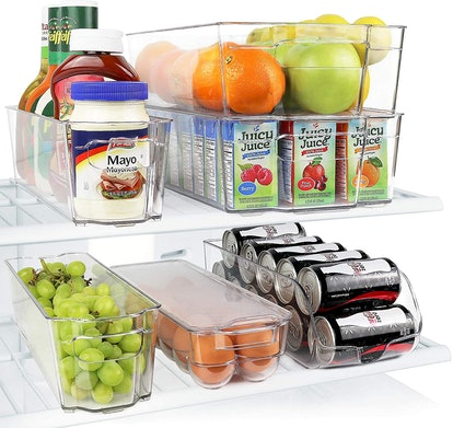Greenco Fridge Bins (6 Pieces)