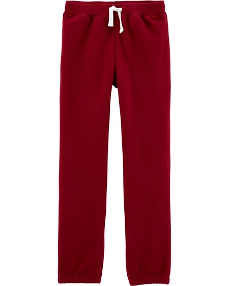 Carter's Pull-On Fleece Pants in Burgundy