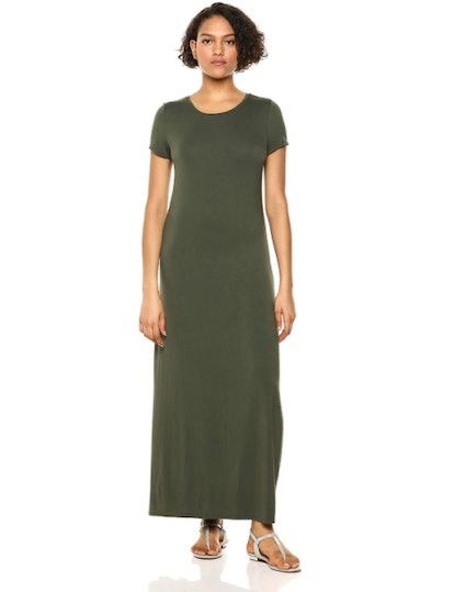 Amazon Essentials Women's Short-Sleeve Maxi Dress