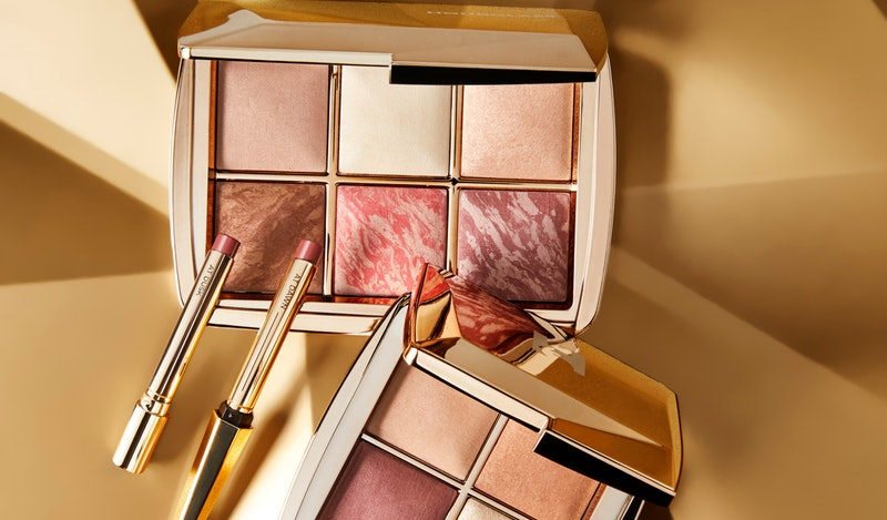 Palette, mini quad, and lipstick duo from Hourglass Cosmetics' holiday 2020 collection.