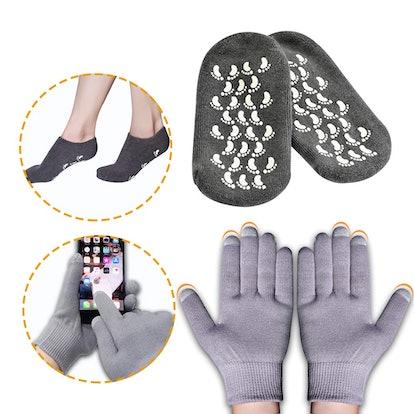 Pnrskter Moisturizing Socks and Gloves