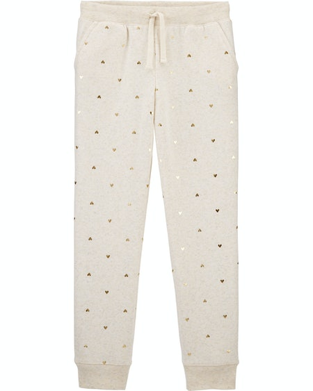 OshKosh Heart Print Logo Fleece Pants