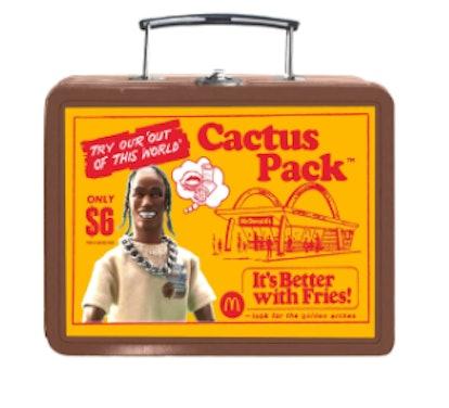 CACTUS PACK VINTAGE METAL LUNCH BOX