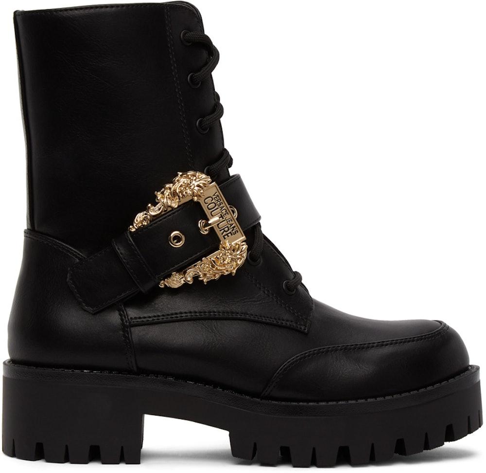 Black Baroque Combat Boots