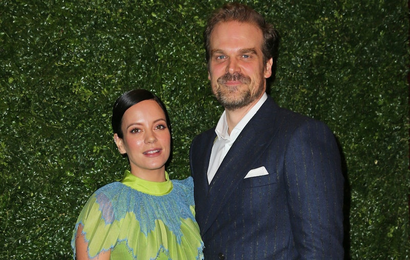 David Harbour and Lily Allen at a public event