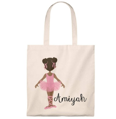 ByKeeksWithLove Personalized Ballerina Tote