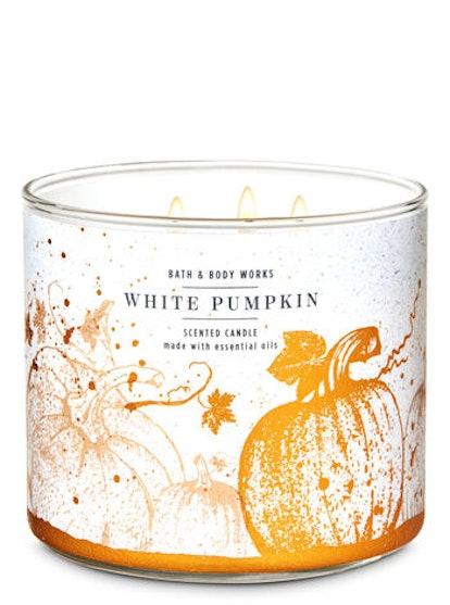 White Pumpkin Three-Wick Candle
