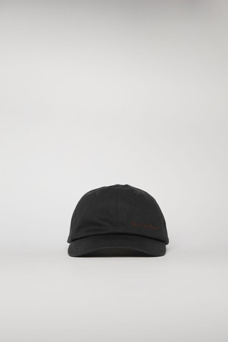 Logo-Embroidered Cap Black