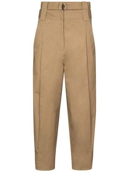 Myriam Twill Double Waisted Sculpted Khaki Pants