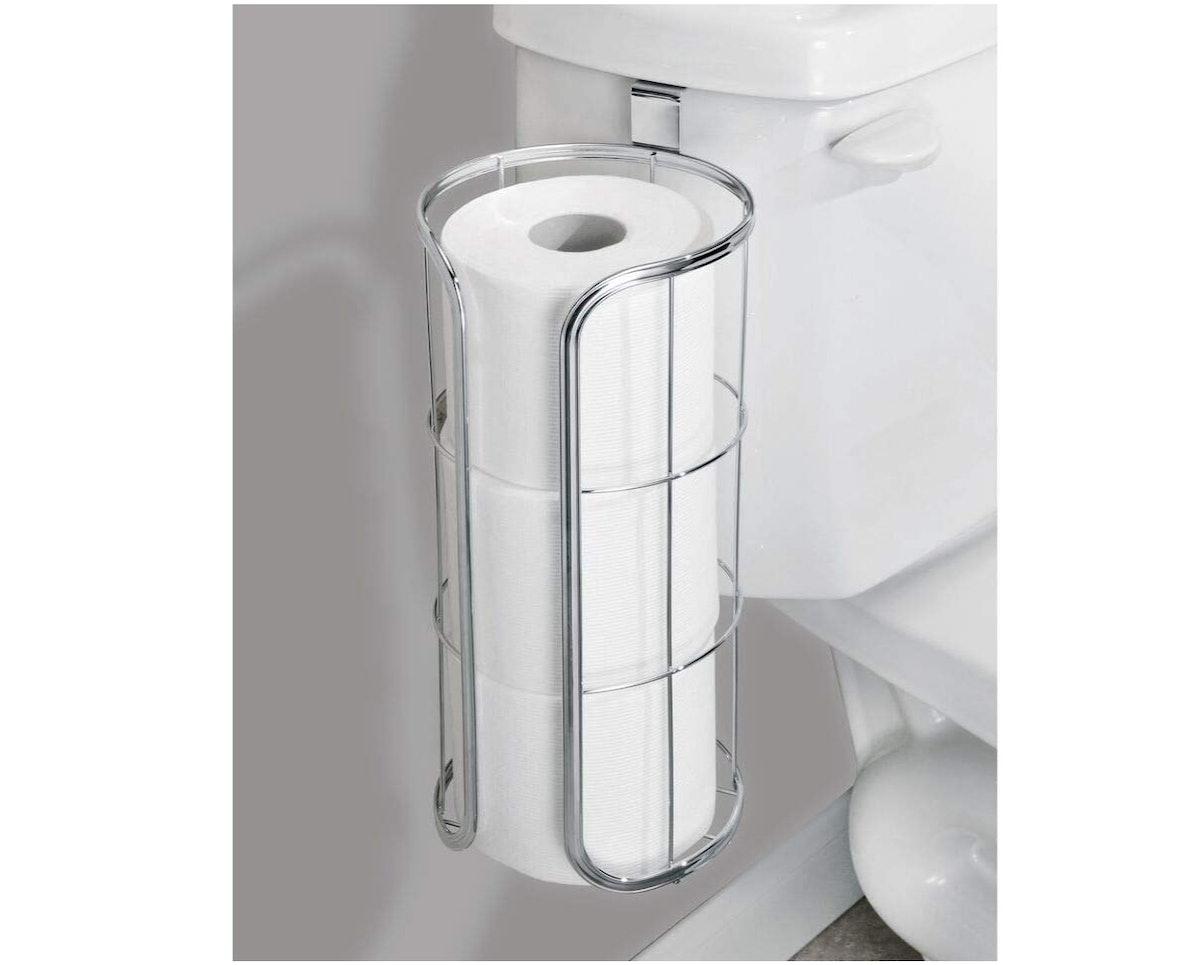 mDesign Over The Tank Toilet Paper Holder