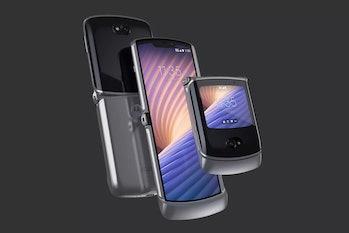 Three Motorola Razrs.