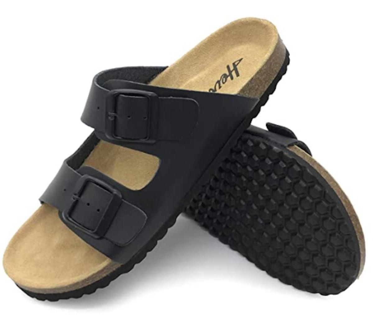 FUNKYMONKEY Flat Leather Sandals