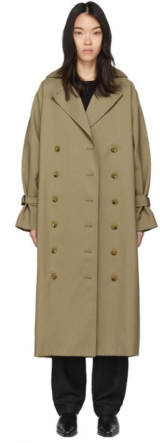 Khaki Pisa Trench Coat