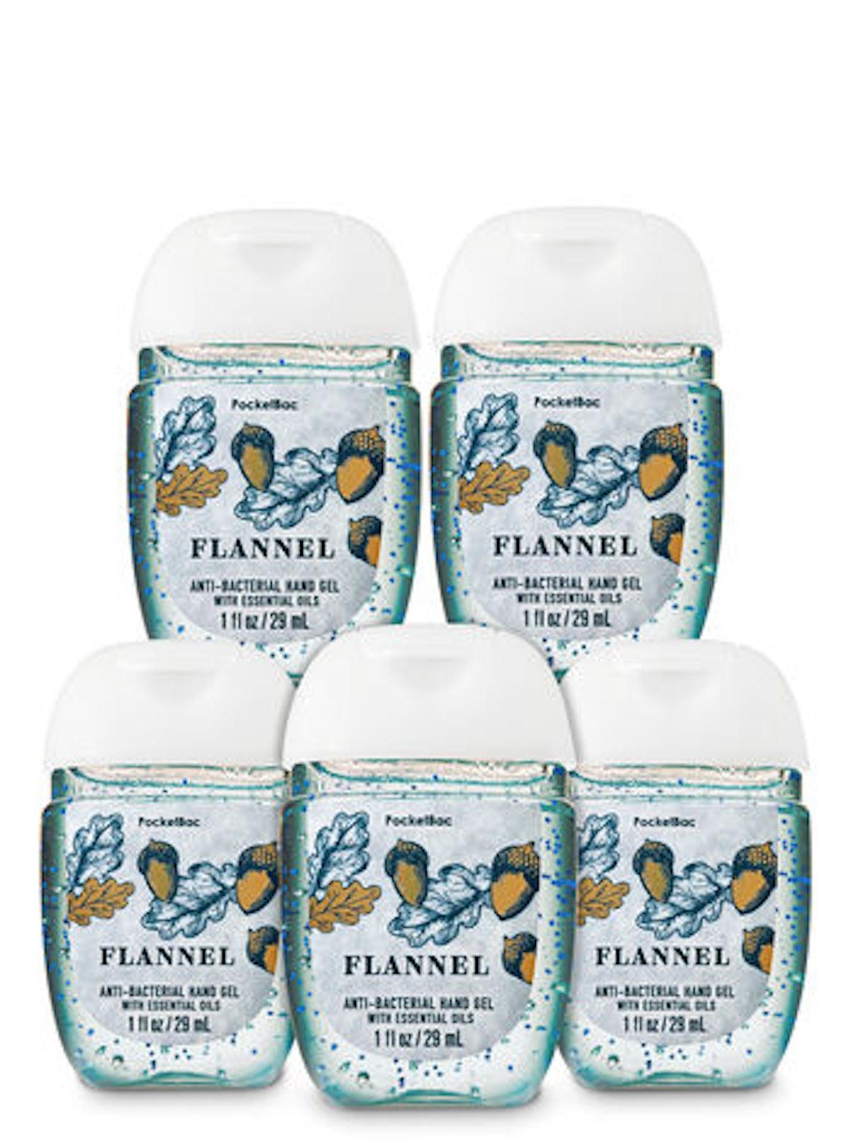 Flannel PocketBac Hand Sanitizer, Five-Pack