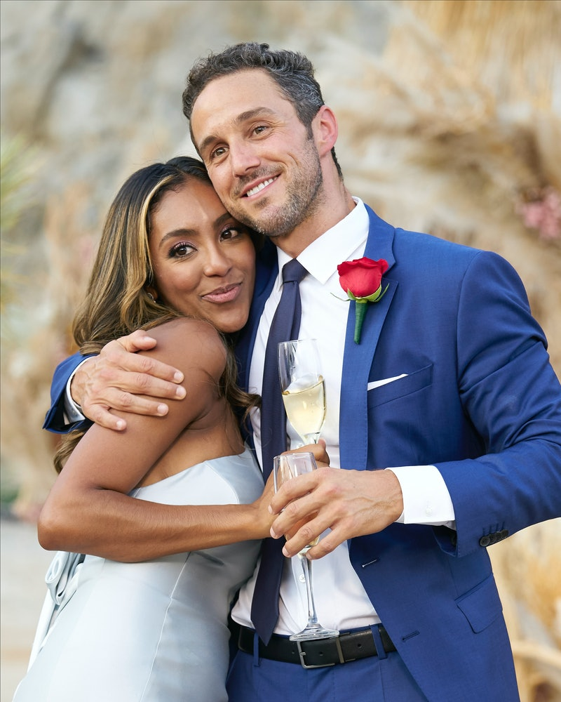 Tayshia Adams and Zac Clark get engaged on 'Bachelorette,' via ABC press site.