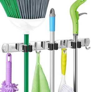 IMILLET Wall-Mounted Broom and Mop Holder