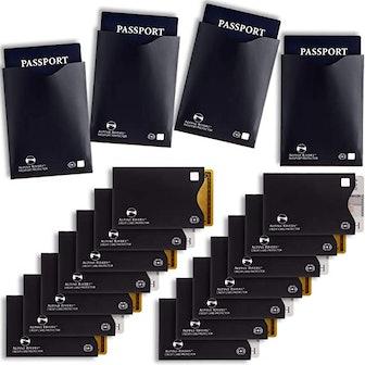 RFID Blocking Sleeves (14 Credit Card Holders & 4 Passport Protectors)