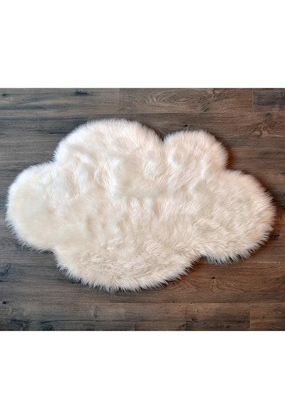 Kroma Carpet Faux Sheepskin White Cloud Area Rug