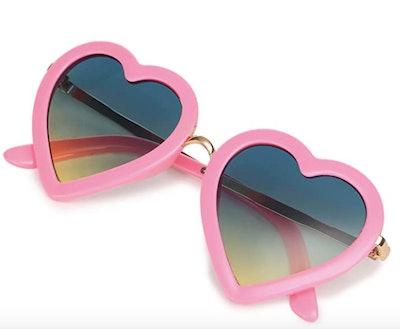 Mibasies Kids Polarized Heart Shaped Sunglasses