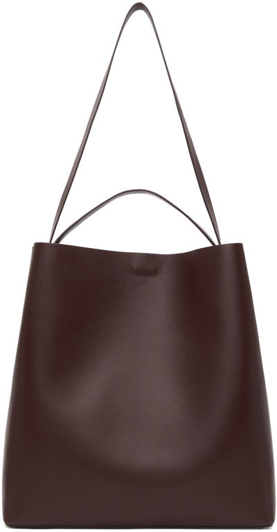 Brown Square Sac Tote