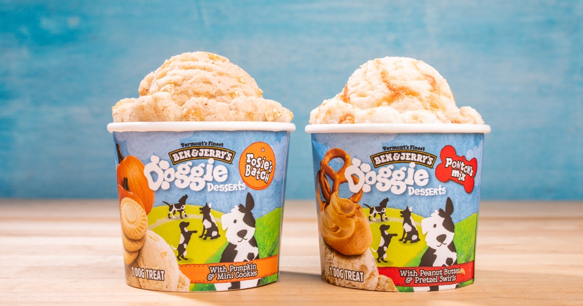 Ben & Jerry's new Doggie Desserts line includes two different flavors.