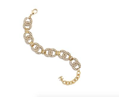 Gold & Crystal Bracelet
