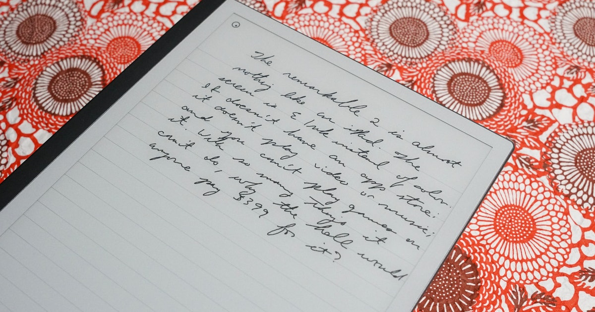 reMarkable 2 review: The first tablet that actually writes like paper