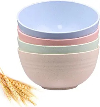 DUOLUV Unbreakable Cereal Bowls - 24 OZ (Set of 4)