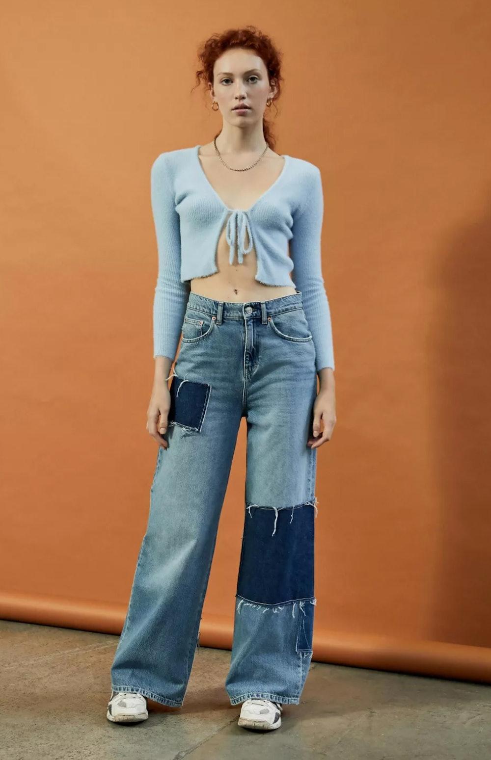 BDG Patchwork Puddle Jean