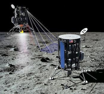 Illustration of Nova-C lunar lander on the Moon