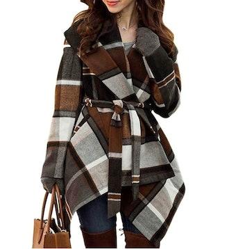 Chicwish Shawl Collar Wool Blend Coat