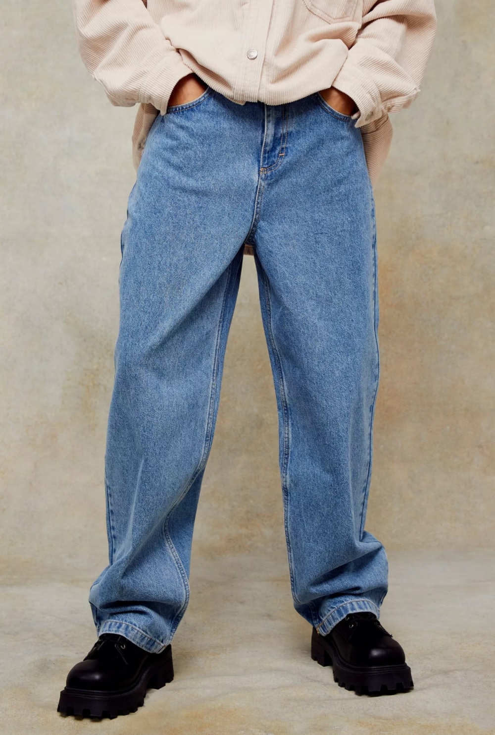 Mid Blue Baggy Jeans