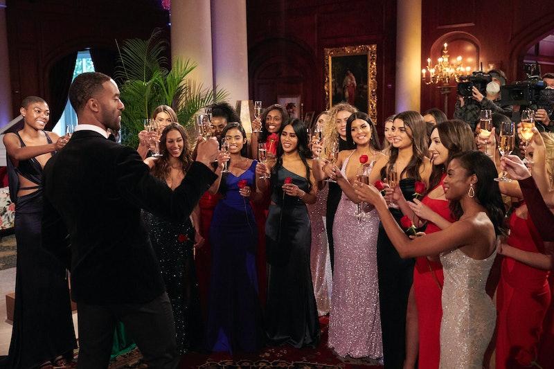 Matt James and his 'Bachelor' contestants via ABC's press site