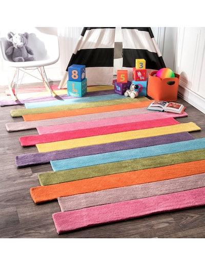 nuLOOM Pantone Colorful Stripes Kids Rug