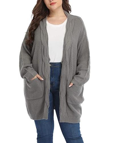 Shiaili Plus-Size Cardigan