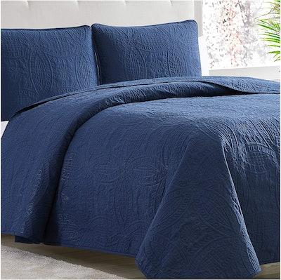 Mellanni Bedspread Coverlet Set, Queen (3 Pieces)
