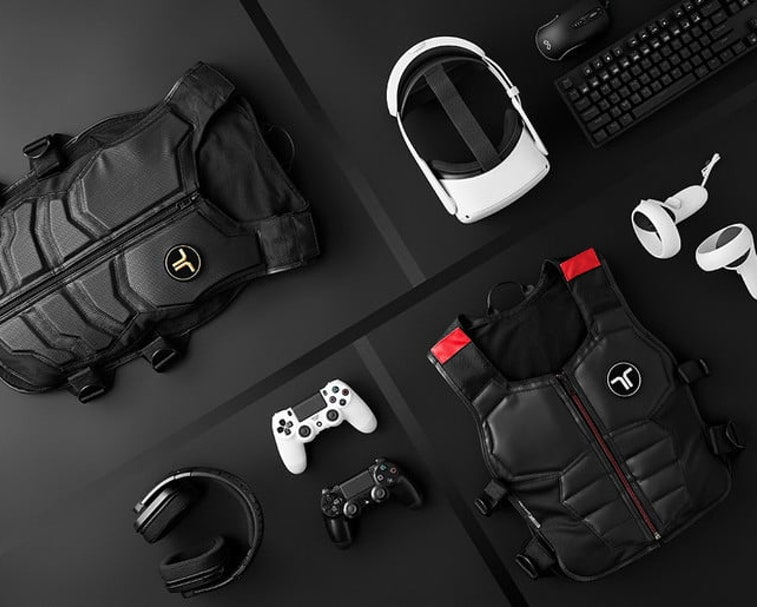 The Tactsuit X16 is a haptic feedback vest for virtual reality content.