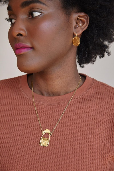 linguaNigra Shower Of Faith Mini Fringe Pendant Necklace