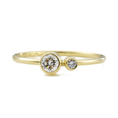 Diamond Kiss Ring