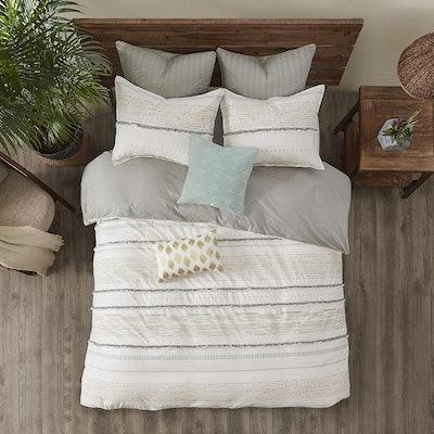INK+IVY Cotton Comforter, Queen (3 Pieces)
