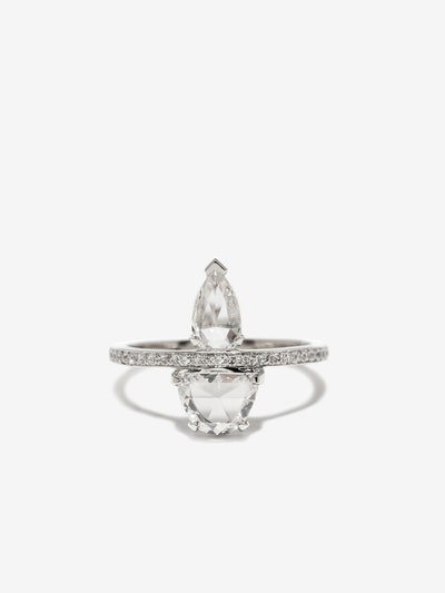 Custom Atelier Double Rose Cut Diamond Ring