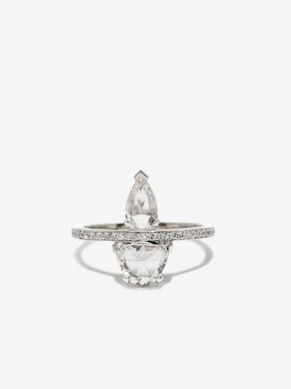 Custom Atelier Double Rose Cut Diamond Ring